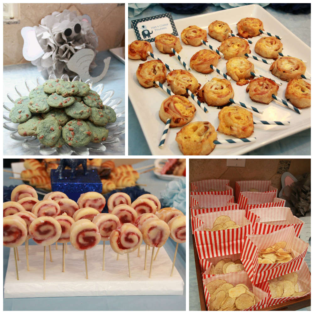Elephant Baby Shower Party Food by 5M Creations