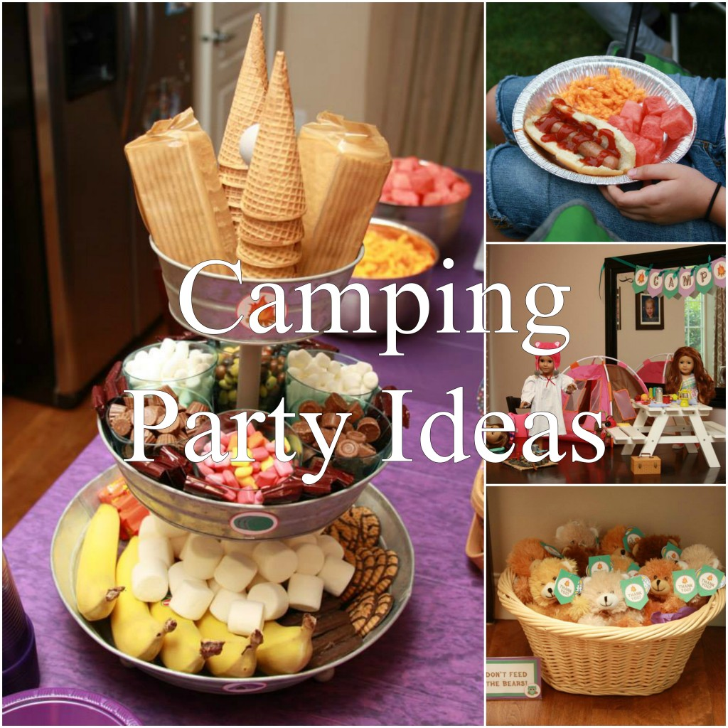 camping party ideas by 5M Creations