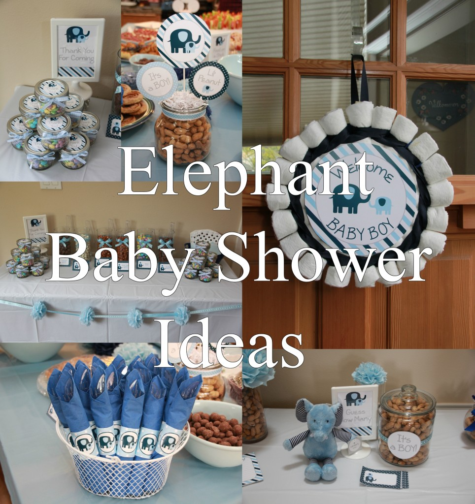Elephant Baby Shower Ideas- by 5M Creations