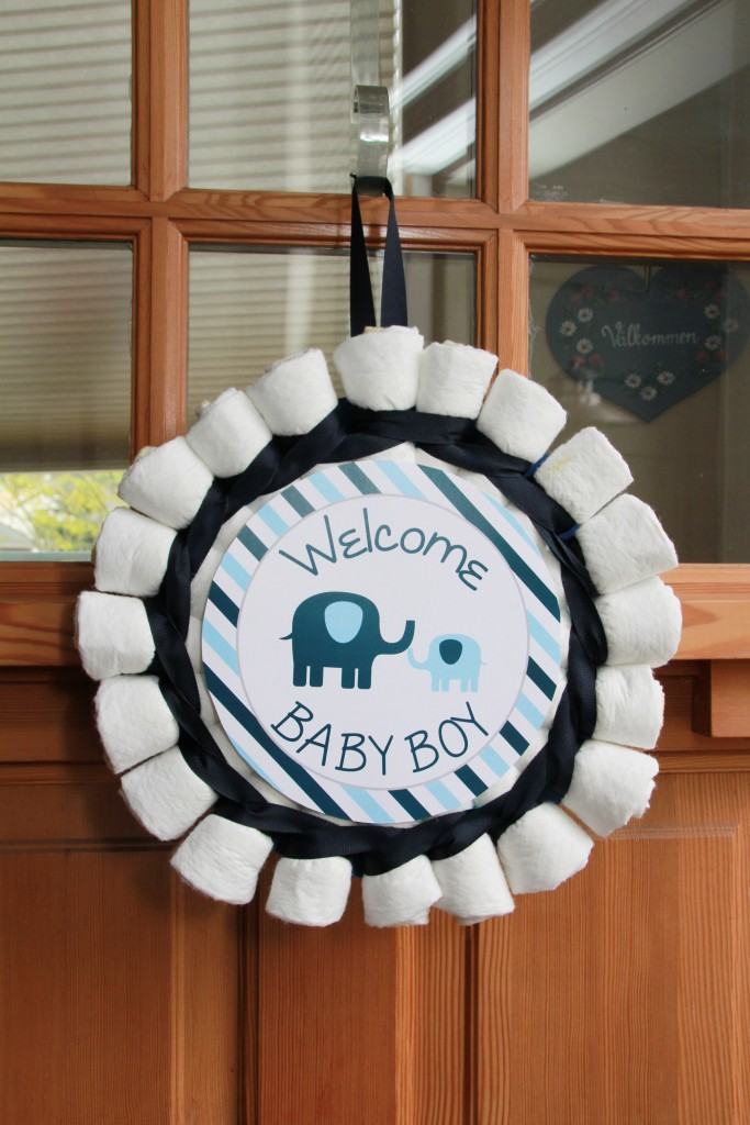 Elephant Baby Shower Diaper Wreath by 5M Creations