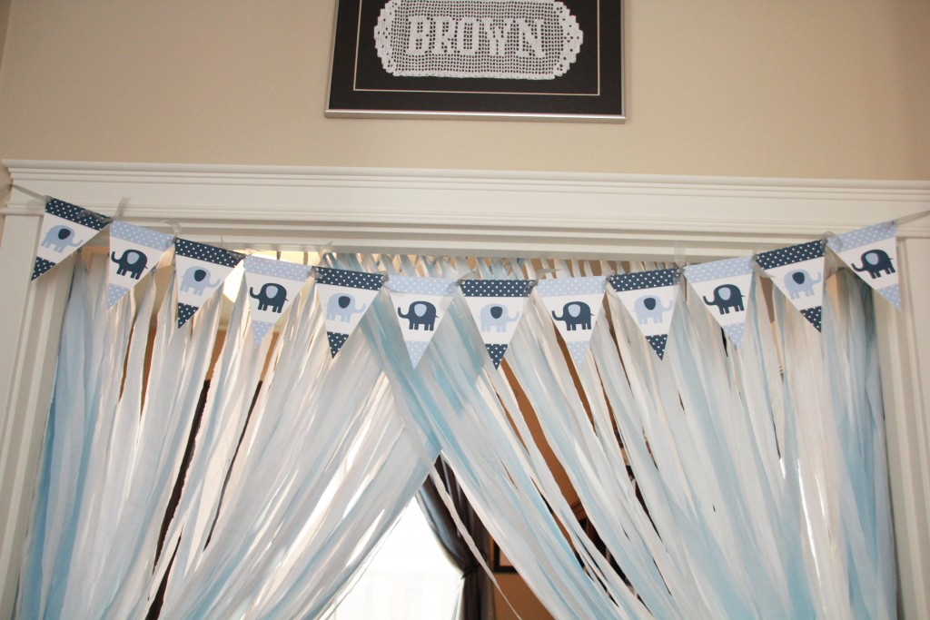 Elephant Baby Shower Banner by 5M Creations
