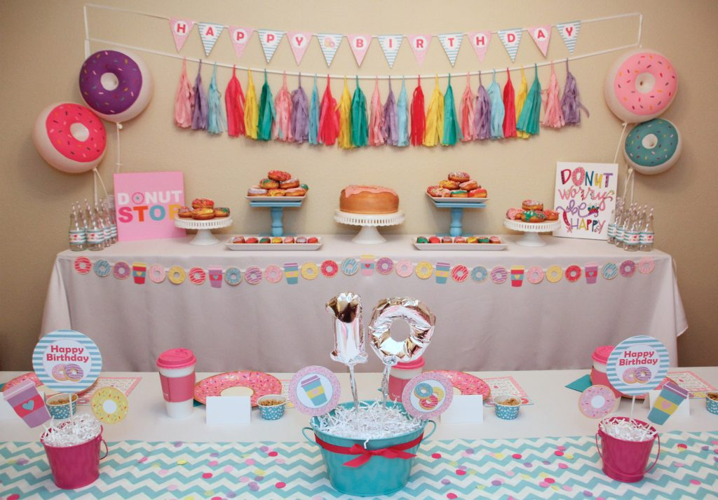Donut Shop Birthday Party Printable Decorations – Instant Download