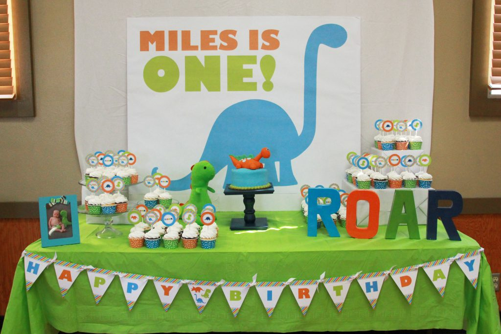 Dinosaur Birthday Party Printable Decorations – Instant Download