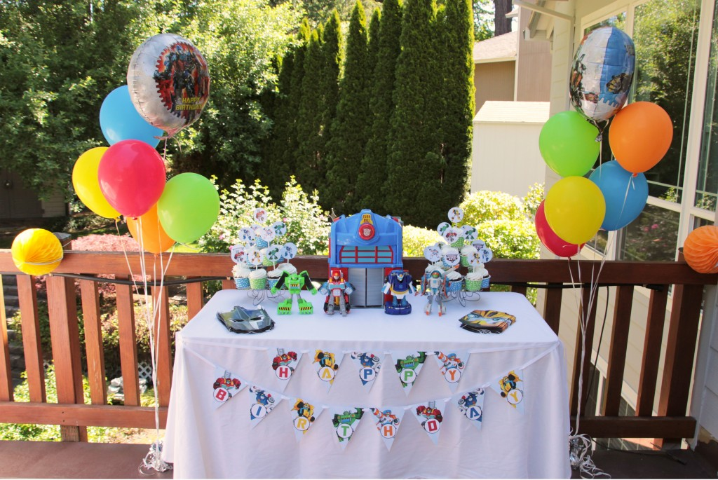 Rescue Bot Party Table FREE Printables
