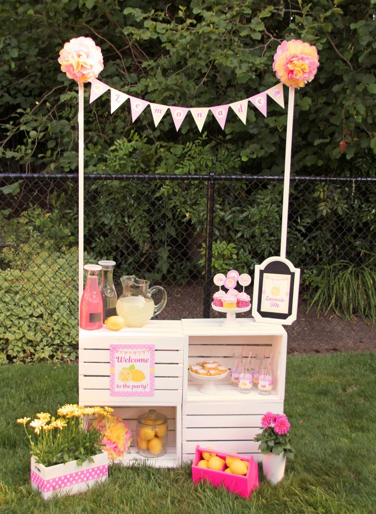 Great Photo Of A Lemonade Stand Made From Crates She Went To Work And Created The Most Adorable It Was Perfect For All Party
