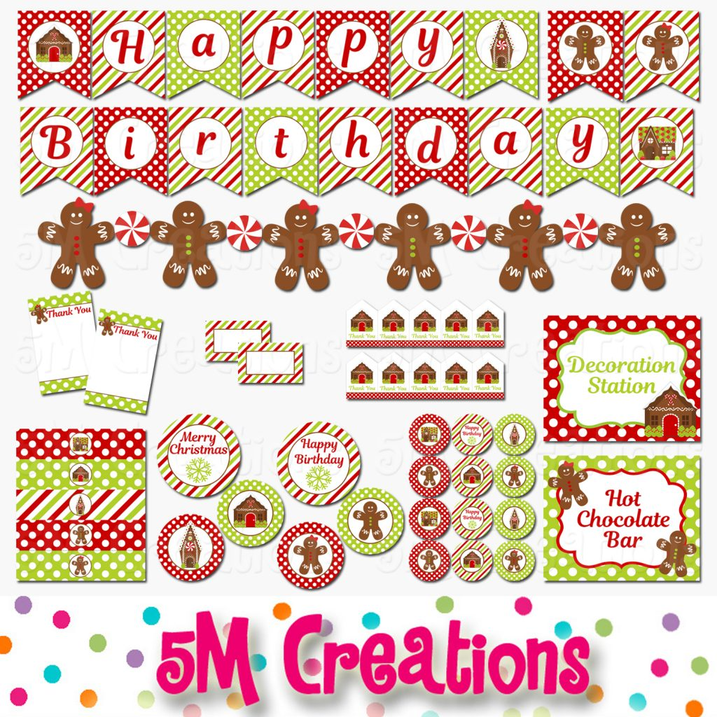 Gingerbread house decorating party 5m creations blog matching invitations are available as well in both gingerbread house and gingerbread cookies i can customize the wording to meet your party needs filmwisefo Images
