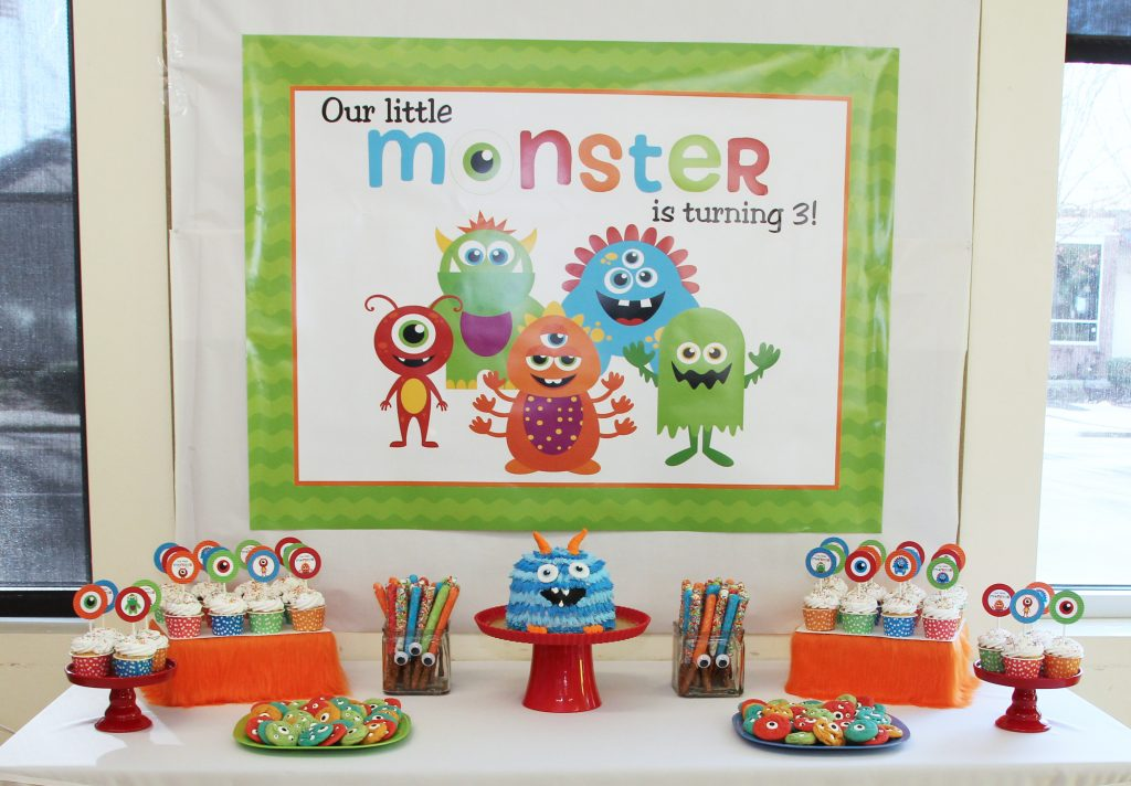 Monster Birthday Party Printable Decorations – Instant Download